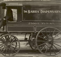 The Babies' Dispensary and Hospital milk dispensary wagon