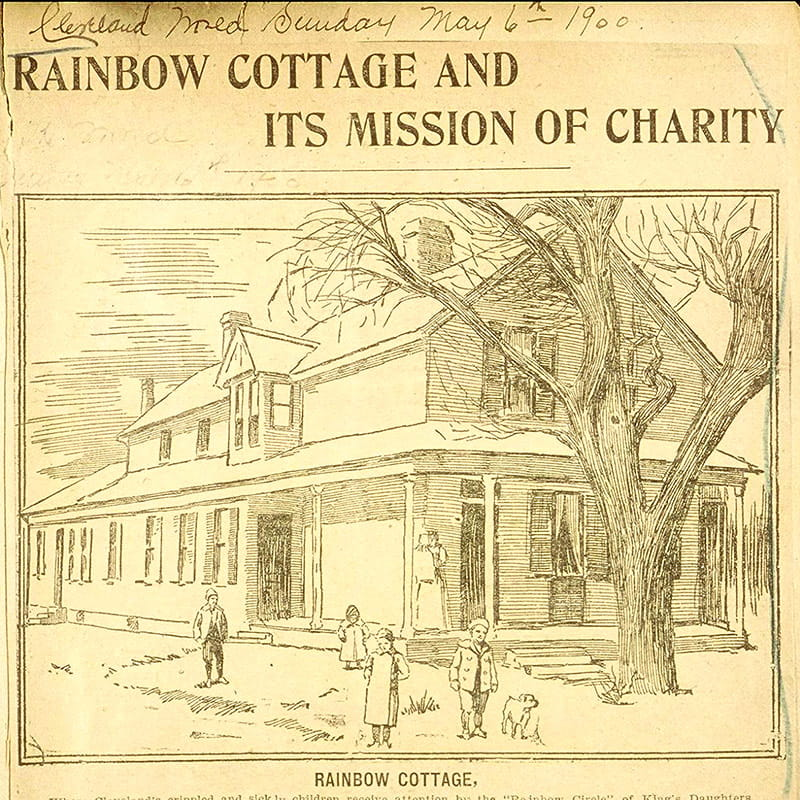 Image from newspaper story on Rainbow Cottage, 1900