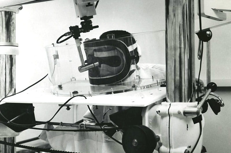 Opthalmology equipment used at UH in the 1960s