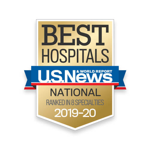 US News Best Hospitals - National Ranked in 8 Specialties - 2019-20