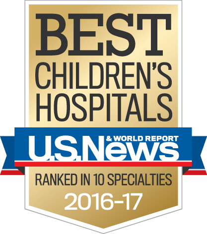 US News and World Report Best Children's Hospitals 2016-2017   2016