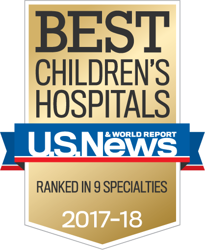 U.S. News and World Report's Best Children's Hospitals - Ranked in 9 Specialities 2017-18