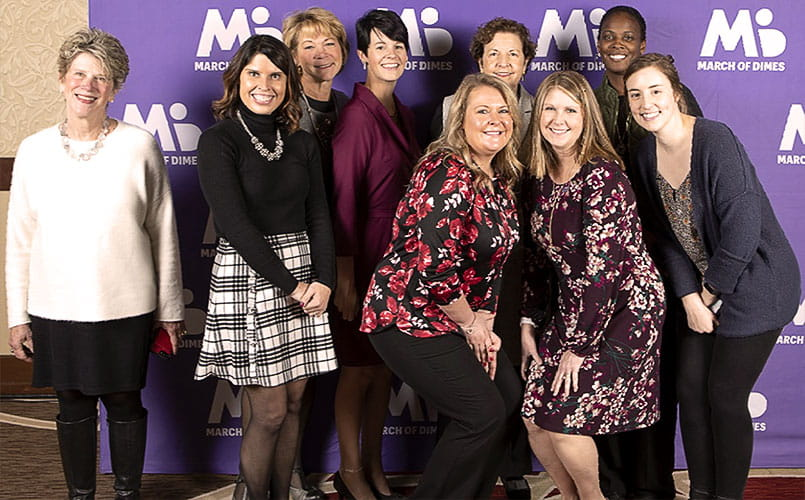 Marcie Niemi poses with the 2019 March of Dimes Ohio Nurse of the Year winners