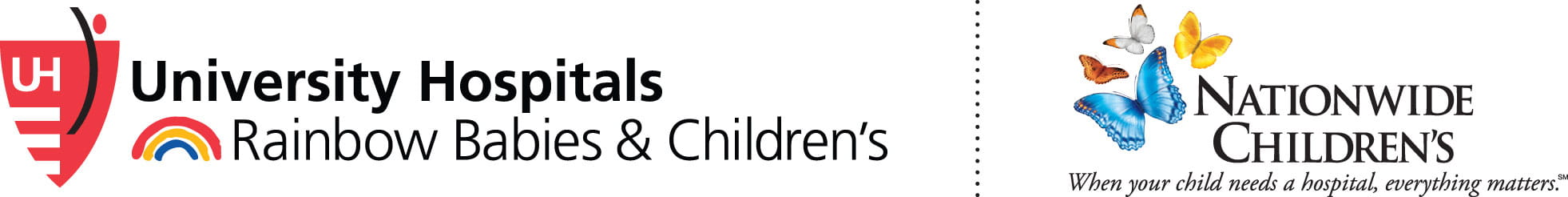 UH Rainbow Babies & Children's and Nationwide Children's logo