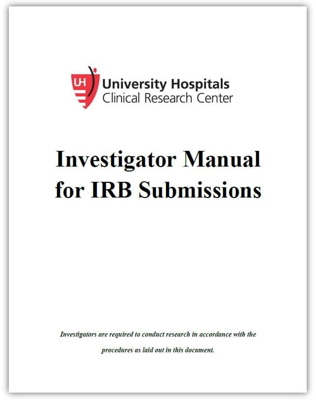 Investigator Manual for IRB Submissions