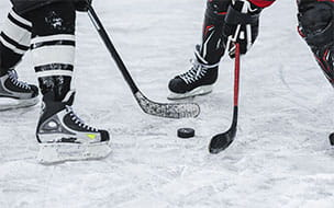 hockey players feet