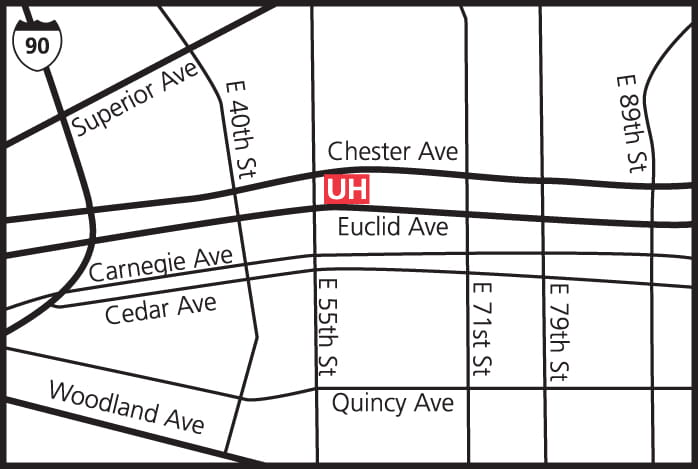 Map to UH Rainbow Center for Women & Children