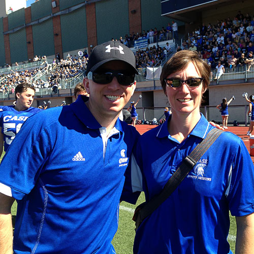 Bradley Kuske, DO and Susannah Briskin, MD on the field