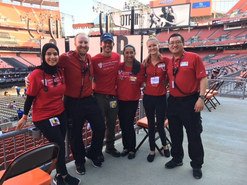 University Hospitals Emergency Medicine Residents at Event