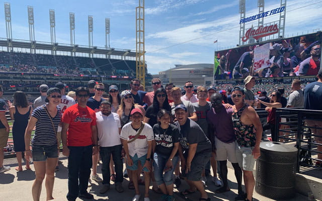 Surgery residents at an Indians Game