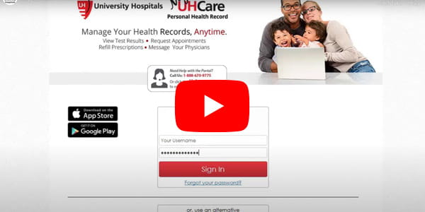 Still image from our introductory MyUHCare video