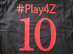The #Play4Z jersey