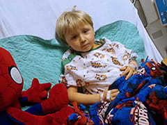 John and Spidey recover from open-heart surgery