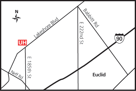 Map of UH Euclid Health Center