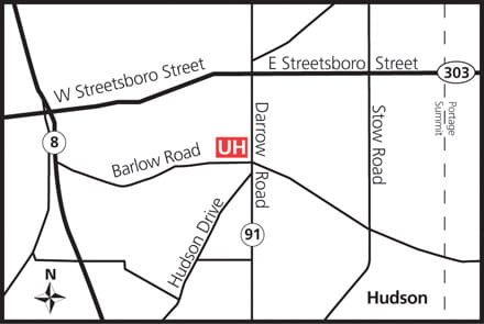 Map of UH Hudson Health Center