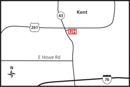 Map of UH Kent Health Center