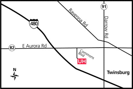 Map of UH Twinsburg Health Center