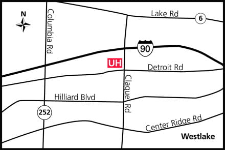 Map of UH Westlake Health Center