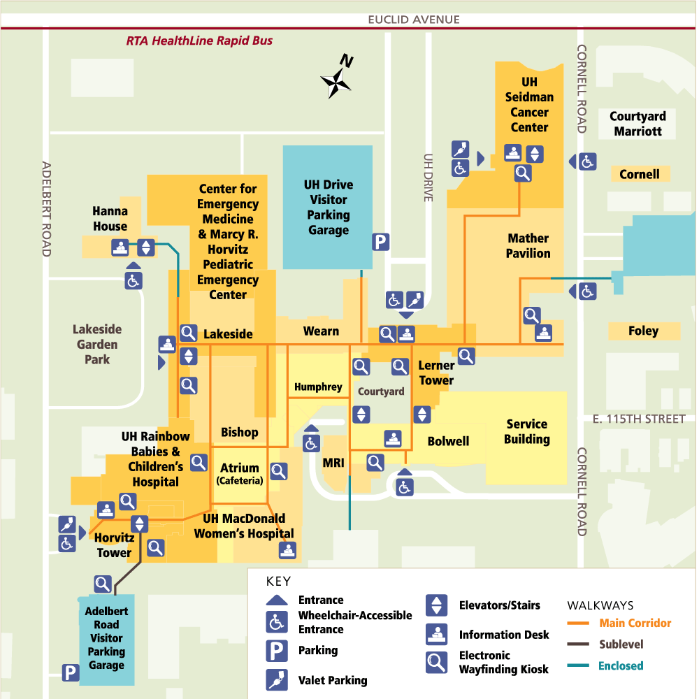 University Hospital Main Campus Map.Directions Getting To Uh Cleveland Medical Center Cleveland Oh