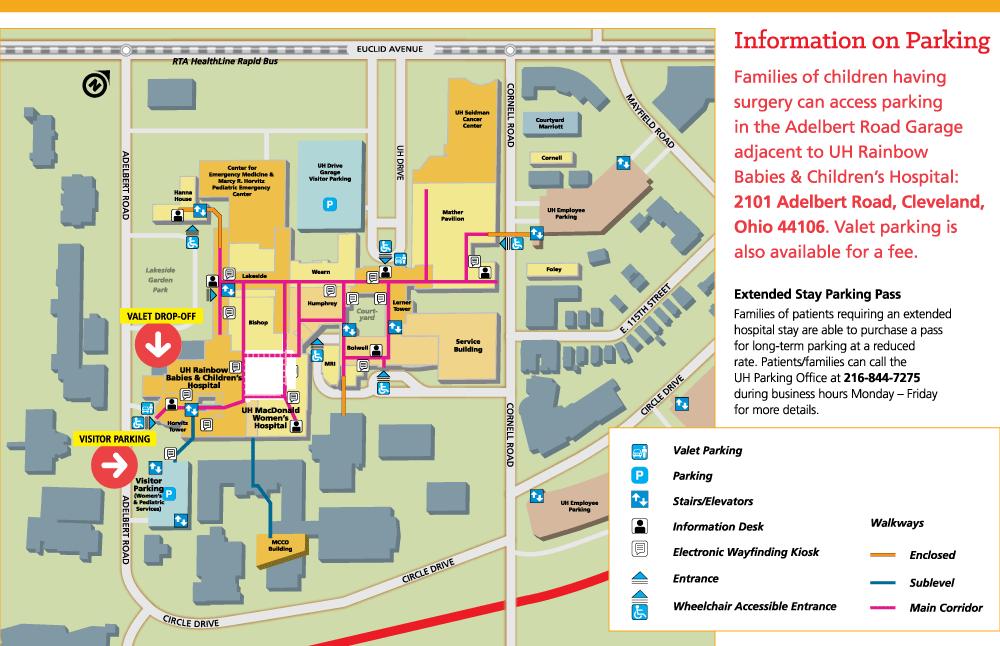 University Hospital Main Campus Map.Patients And Visitors University Hospitals Rainbow Babies