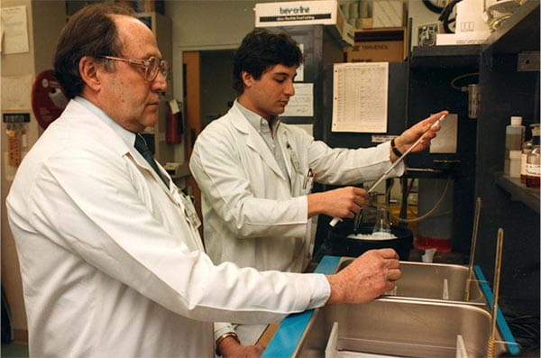 Dr. Kean with one of his graduate students in his lab