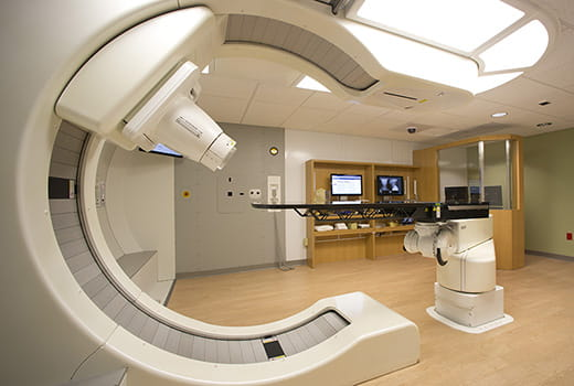 UH Seidman Cancer Center - Services - Proton Therapy - proton machine in empty room