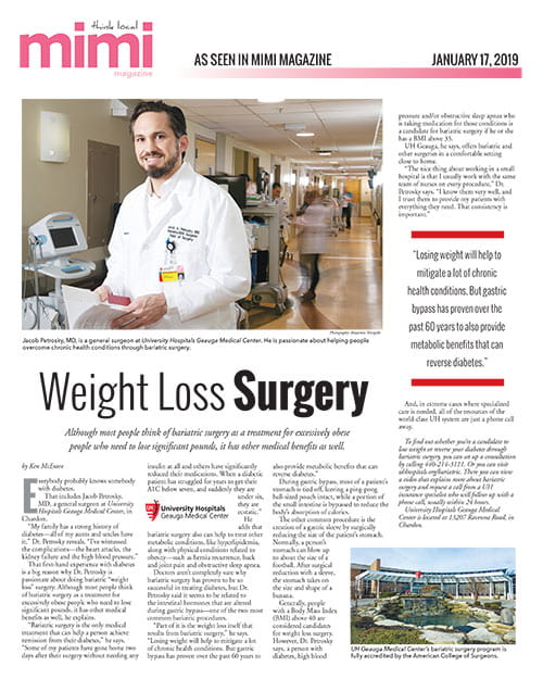Jacob Petrosky, MD, as featured in the January 2019 issue of Mimi Magazine