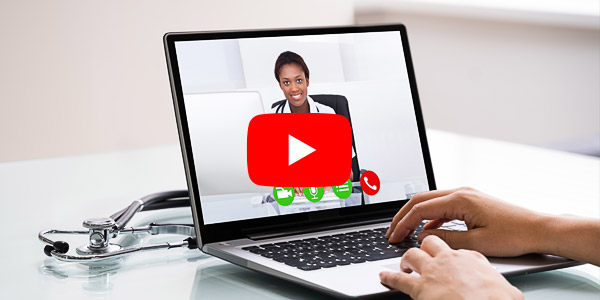 Medical Doctor Holding Online Video Conference
